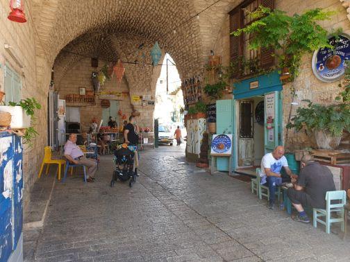 מעבר מתחת לבית פאהום וליד כנאפה אום עלי בשוק נצרת
