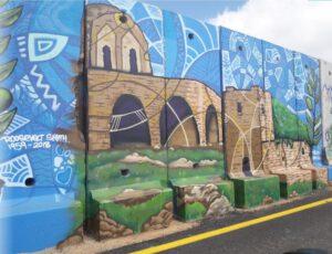 קירות מדברים על חומת הגבול ליד שתולה