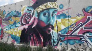 קירות מדברים - גרפיטי על חומת הגבול ליד שתולה