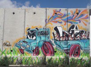 ציור גרפיטי בקירות מדברים