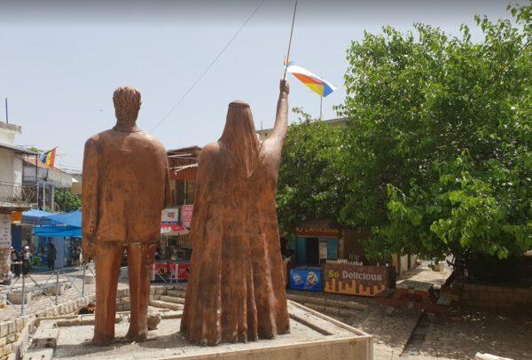 פסלים בכיכר המעיין בפקיעין